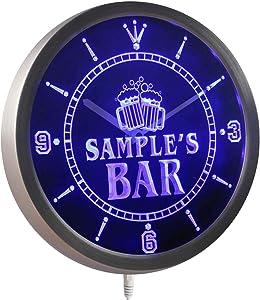 ADVPRO ncw-tm Name Personalized Custom Home Bar Beer Mugs Cheers Neon Sign LED Wall Clock