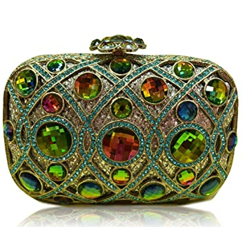 Mindruer Cartera de Mano, Bolsas de Fiesta Bolsos de Embrague de Diamantes de imitación Grandes