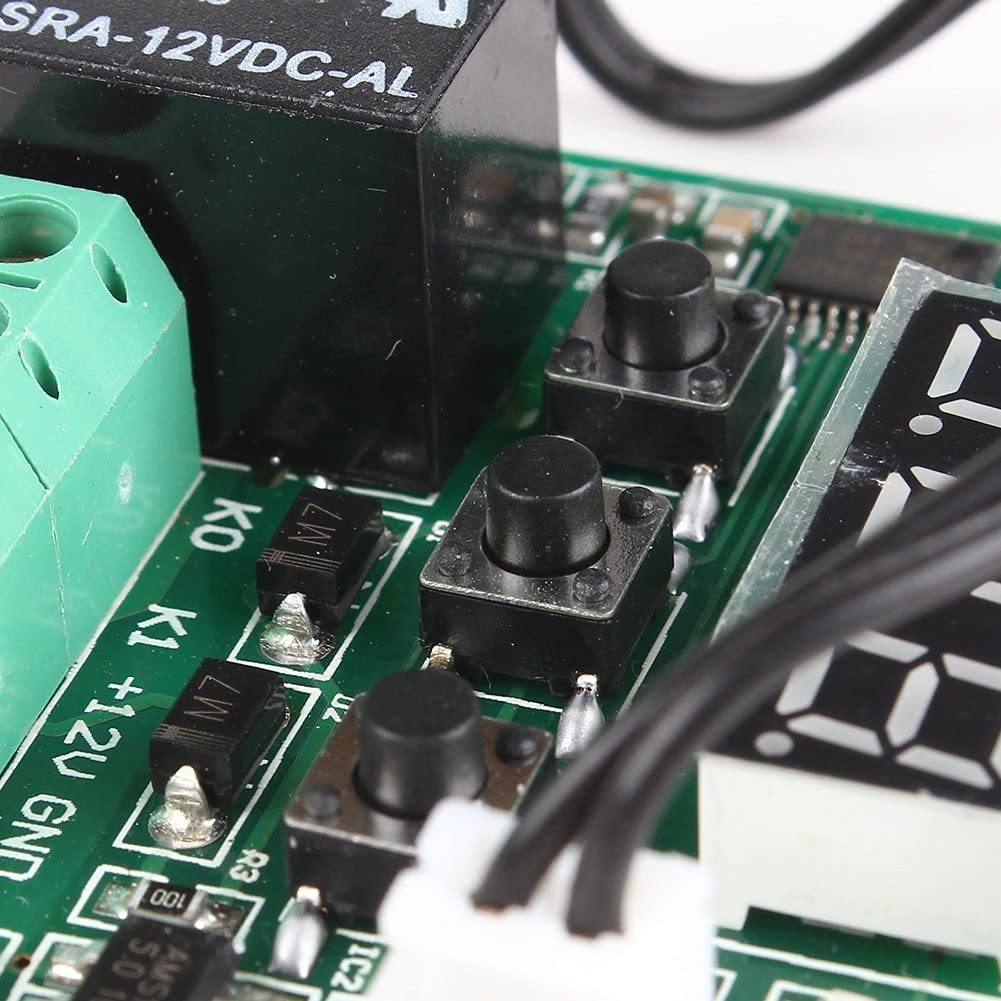 110/Interruptor de control de temperatura calor Cool Temp termostato term/ómetro 50/a Obsidian DC 12/V