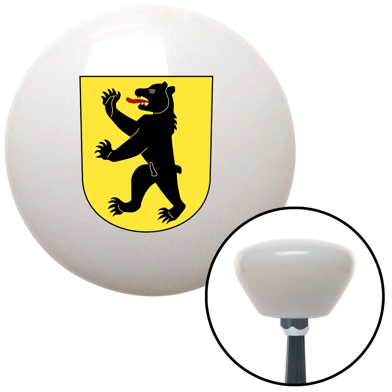 Berlin Bear on Yellow Crest American Shifter 153307 White Retro Shift Knob with M16 x 1.5 Insert