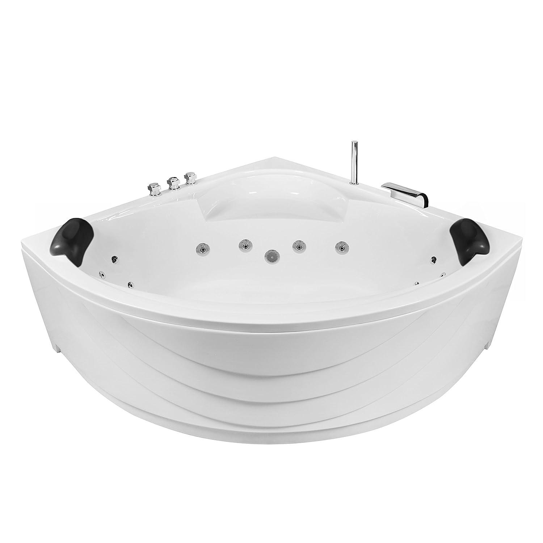 AQUADE 140x140cm Whirlpool Badewanne Indoor-Whirlpool SPA Pool Wanne 140 x 140 mit Armatur Lux XL Modell Freiburg 7128