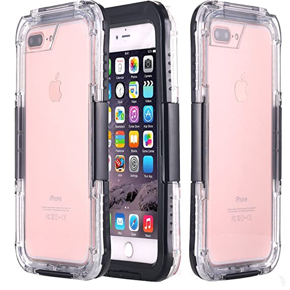 premium selection aa7c0 27231 AICase iPhone 8/ iPhone 7 Waterproof Case, [Heavy Duty] Built-in Screen  Protector 2 in 1 Clear PC & TPU Rugged Shorkproof Snowproof Dirtproof ...