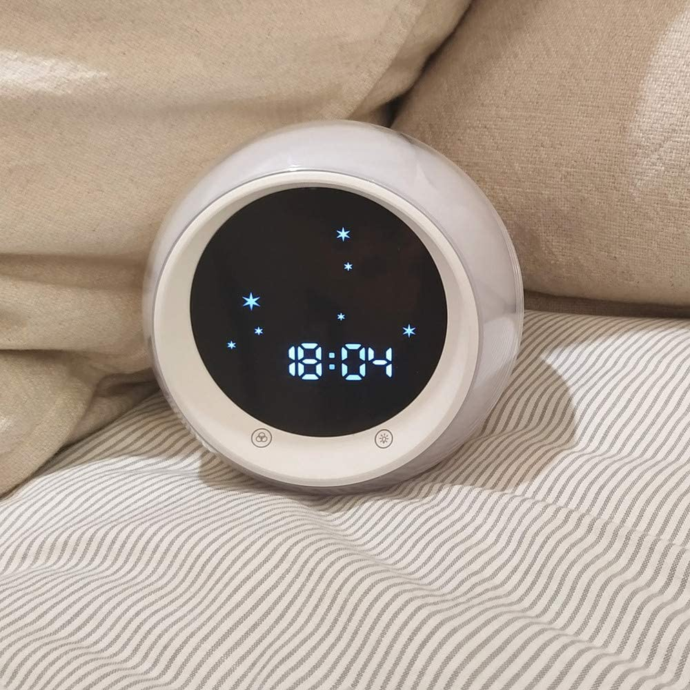 Kids Wake Up Light Childrens Sleep Trainer Sleep Sound Machine I/·CODE Time to Wake Alarm Clock for Kids