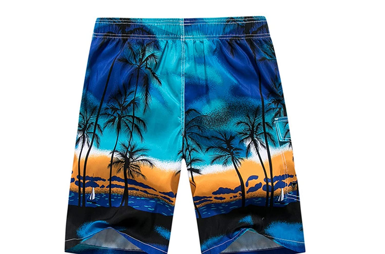 AISCOOL Mens Swim Trunks 3D Printed Quick Dry Summer Beach Boardshorts Trunks with Pockets Hawaiian Shorts