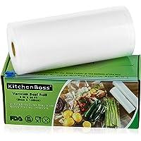 KitchenBoss Vacuümrollen met cutter-box, 1 rol 20 x 1500 cm, folierollen, BPA-vrij, voor alle vacuümverpakkers, sterk…