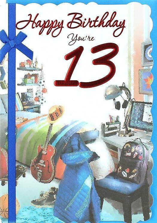 Cards Galore Online Tarjeta de Cumpleaños para Niños DE 13 ...