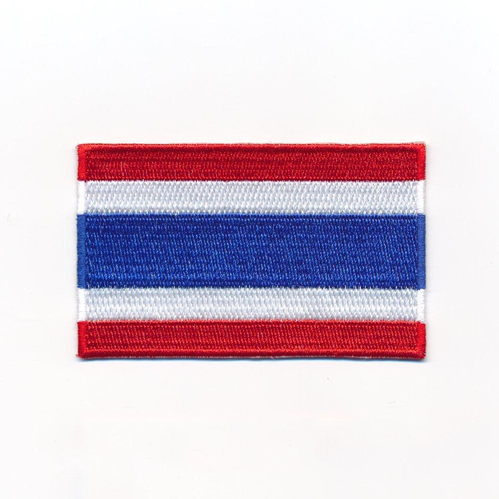 40/x 25/mm UK Flag Thailand Bangkok Flag Sew-On Badge//Iron-On Patch 0963/A