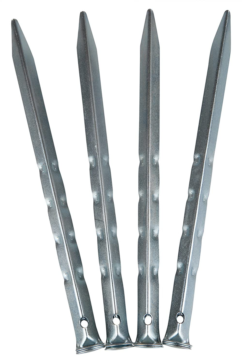 Steel Rippled Angle Tent Pegs 18cm Pack Of 10