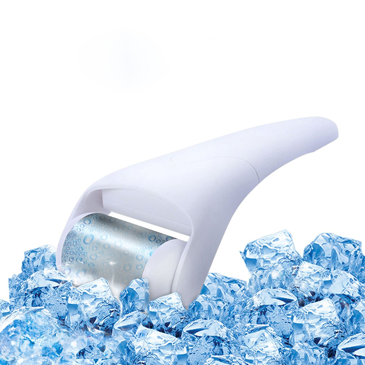 MEILYLA Ice Roller Stainless Steel for Face & Eye Puffiness Relief, Migraine, Pain Relief and Minor Injury, Skin Care Products