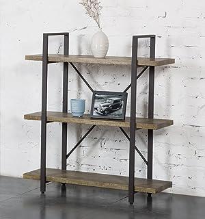 Merveilleux Ou0026K Furniture 3 Shelf Rustic Bookshelf And Bookcase, Vintage Green