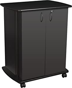 "Balt Refreshment/Utility Cart / 3D Printer Cart, Black, 35.5"" H x 29.5"" W x 20.75"" D (27666)"