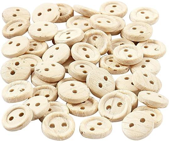 Creativ Company Boutons en bois d: 8 mm 50 pi/èce /à/ 2 trous