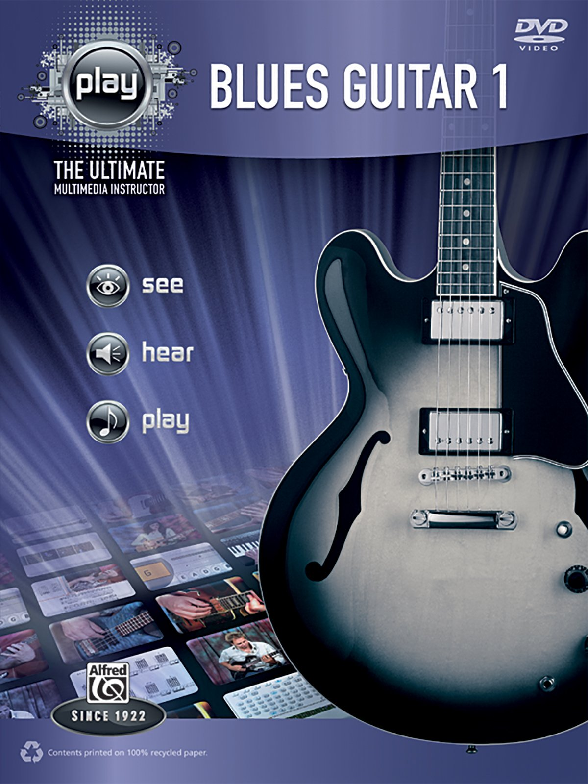 Alfred's PLAY Blues Guitar 1: The Ultimate Multimedia Instructor (Book & DVD) (Alfred's Play Series)