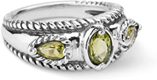 product image for Carolyn Pollack Sterling Silver Gemstone Stack Band Ring- Choice of Gemstones