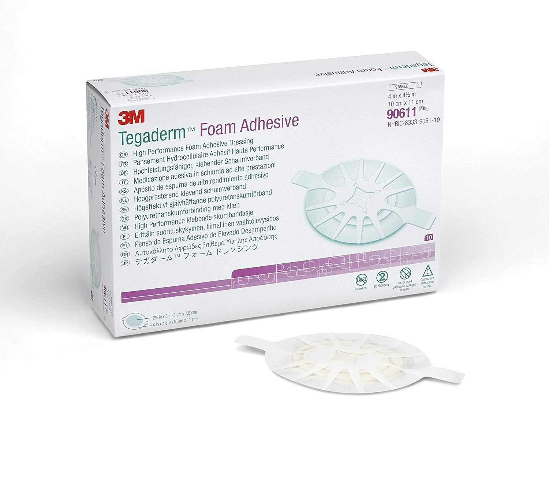 3M Tegaderm Foam Adhesive Dressing - Tegaderm Foam Adhesive Dressing 90611 - Box of 10 - MMM90611_BX by Generic by Generic