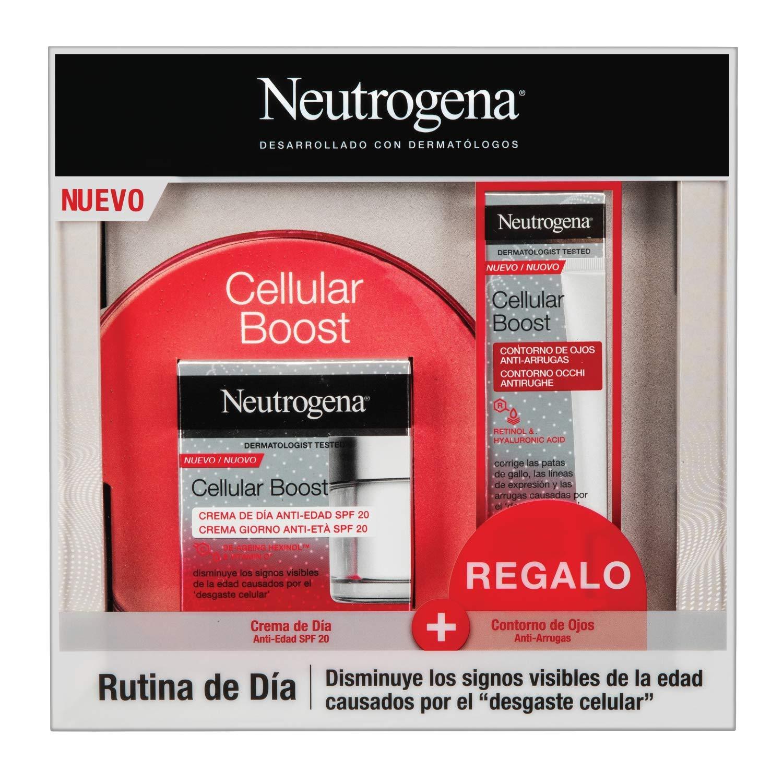 Neutrogena Cellular Boost Anti-edad, Pack Crema de Día SPF20 + ...