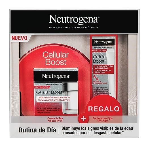 Neutrogena Cellular Boost Anti-edad, Pack Crema de Día SPF20 + Contorno de Ojos Anti-arrugas Rejuvenecedor: Amazon.es