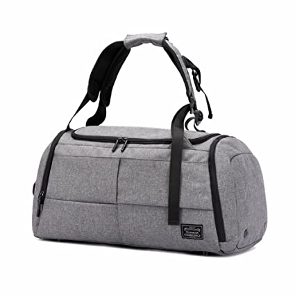 cc3f939c53e6 Gym Duffel Bags, 55L Canvas Travel Luggage Bag,new dad gift 2019,  Waterproof Gym Bag with Shoes Compartment for Women, Men(Upgraded-Grey)