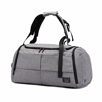 70e47c9e9 ... Gym Duffel Bags, 55L Canvas Travel Luggage Bag, new dad gift 2019,  Waterproof Gym Bag with Shoes Compartment for Women, Men(Upgraded-Grey) |  Gym Totes