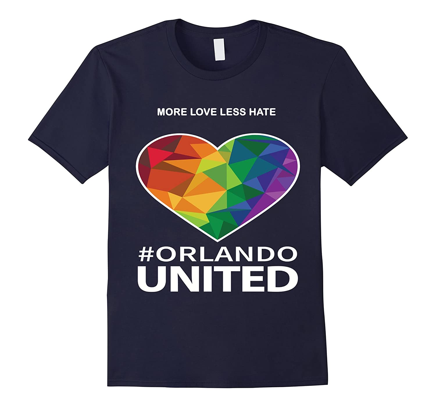 More Love Less Hate Orlando - T Shirt LGBT Pulse Pride Heart-CD