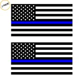 Thin Blue Line (2 Pack) Reflective ! Blue Lives