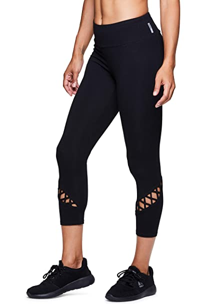 7d4fc93544 RBX Active Women's Cotton Strappy Side Yoga Capri Leggings at Amazon Women's  Clothing store: