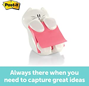 Post-it Pop-up Note Dispenser, Cat design, 3 in x 3 in , 1 Dispenser/Pack (CAT-330)
