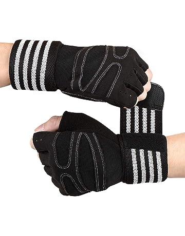Nouveau homme gel poids de levage double gants rembourrés gym cyclisme formation sports