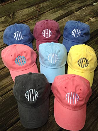 b585280a Amazon.com: Woman's Monogrammed/Personalized Baseball Cap Mint Color:  Clothing