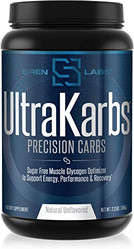 Siren Labs Ultra Karbs Mass Gainer Post Workout Muscle Builder Healthy Carb Loading – Carbohydrate Blend with KarboLyn – More Energy, Faster Recovery – Weight Gainer for Men 40 Servings