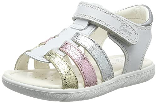 158a906a63bb Geox Baby' B Sandal ALUL Girl A White/Multicolor C0653, 5 UK Child ...