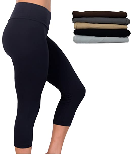 BEST BRAND BASICS Womens 5 Pack Active - Stretch Yoga Hi ...