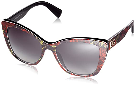 bfc0f9e3c5aa Amazon.com: Dolce & Gabbana Women's 0dg4216, Printing Roses On Black ...