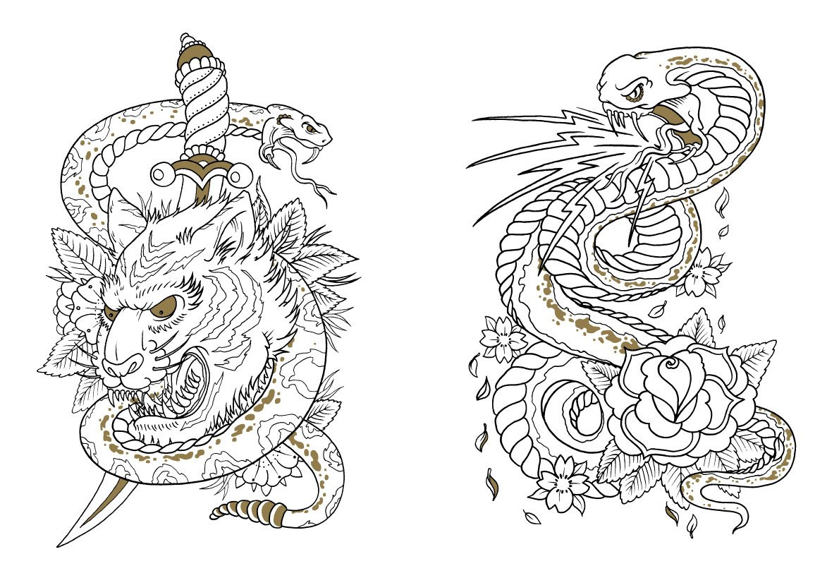 820 Tattoo Coloring Book Download Picture HD
