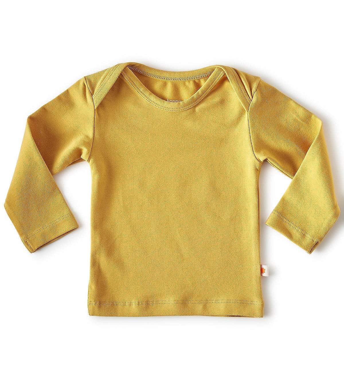 little label Goldgelb Bio Baumwolle Unisex Baby Langarmshirt T-Shirt