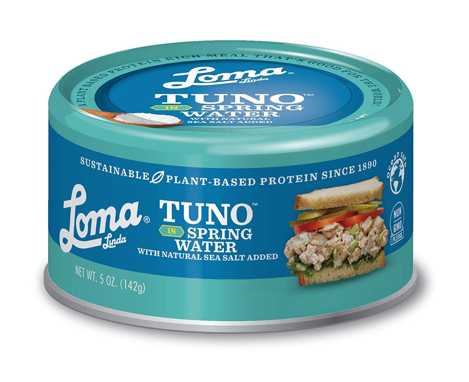 Loma Linda Plant-Based TUNO Spring Water - Sustainable Alternative (5 oz. cans) (Pack of 3)