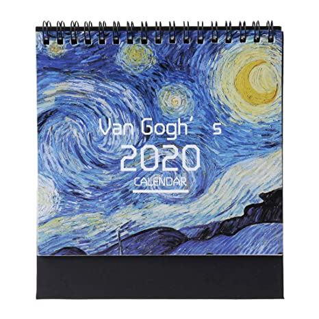 Amazon.com : 2020 Monthly Desk Pad Calendar Colorful Pattern ...