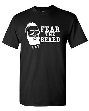 fc4e857837b1 Amazon.com  Fear the Beard Harden Basketball Houston T-Shirt Tee ...