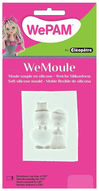 WePAM - PF10ME65 - WeMoule - Moule Silicone Couple de Mariés Porcelaine à modeler