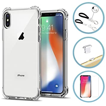 Carcasa iPhone X, Funda iPhone X + Protector Templado ...