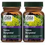Gaia Herbs Stress Response, Vegan Liquid Capsules, 30 Count (Pack of 2) - Natural Stress Relief & Adrenal Fatigue…