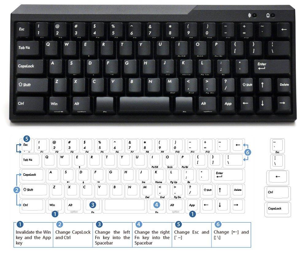 USA Majestouch MINILA Air 67 Key Tactile Action Bluetooth Keyboard FFBT67M/EB