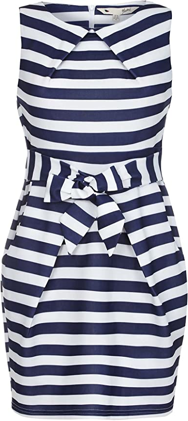 Yumi Robe A Rayures Style Marin Femme 40 Eu Bleu Marine Blanc Amazon Fr Vetements Et Accessoires