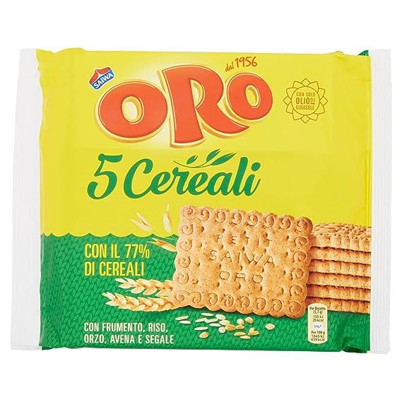 Oro Saiwa , 5 Cereali, Biscotti Con Farina Integrale Di Frumento , 400 G 72  Biscotti Amazon.it Alimentari e cura della casa