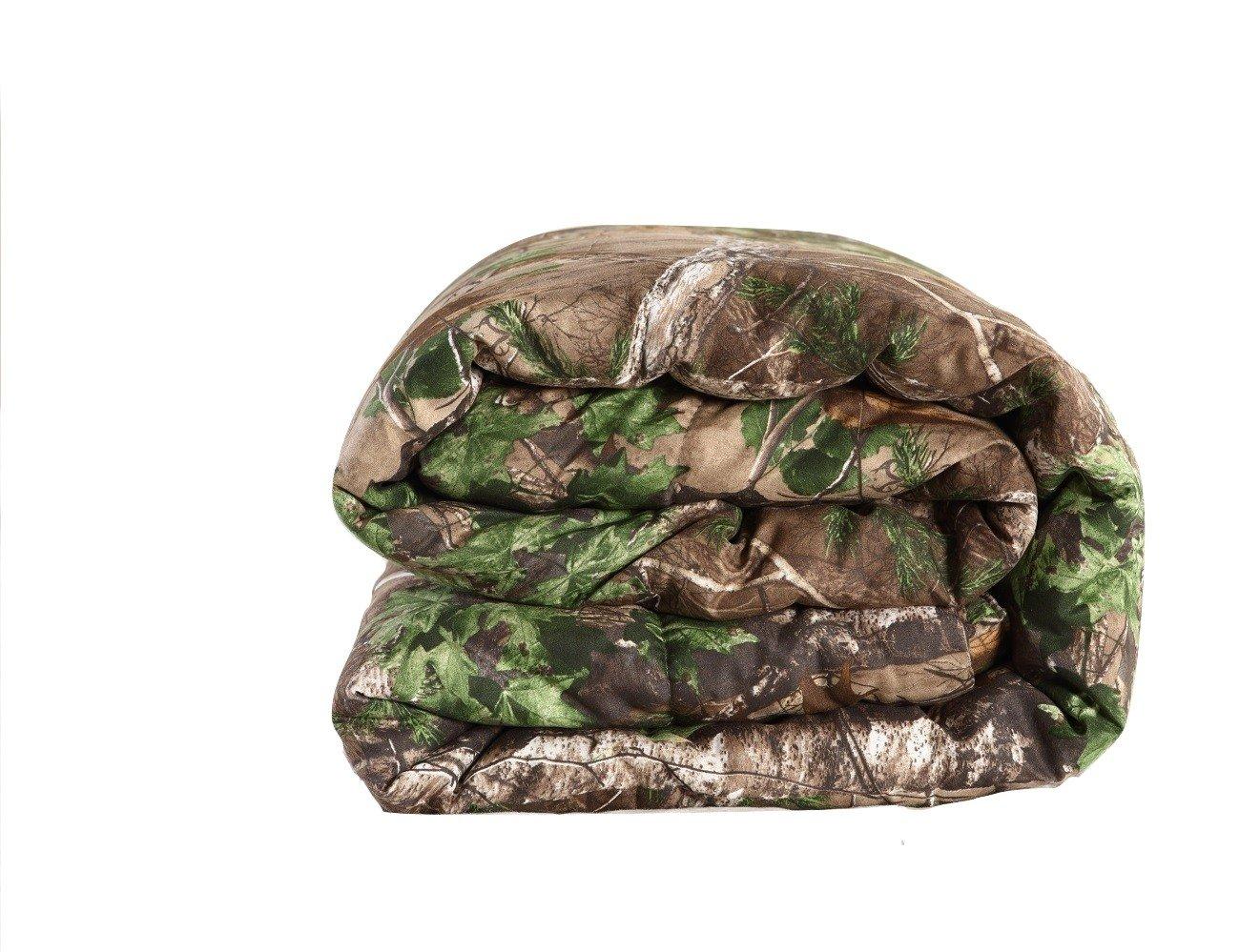 REALTREE Xtra Green micro peach super soft printed Comforter (TWIN)