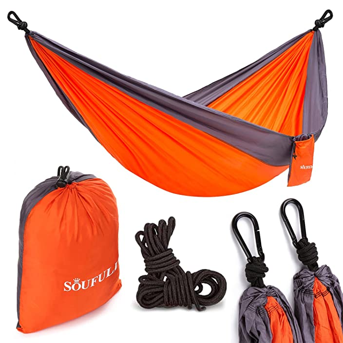 Double Camping Hammock -Soufull Outdoor Portable Hammocks with 2 Rope