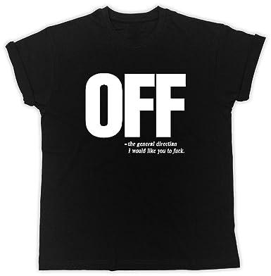 6aca5366 Monk Teez Off T-Shirt Rude Offensive Slogan FCUK You Unisex Tshirt Black:  Amazon.co.uk: Clothing