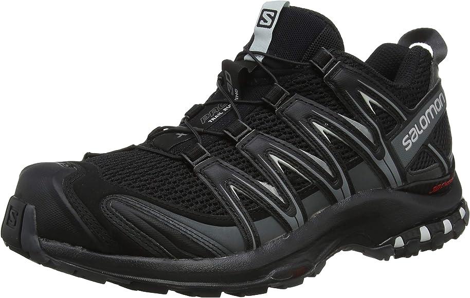 7c01b6239bc Amazon.com | Salomon Men's XA Pro 3D Trail Running Shoes, black, 7 M ...