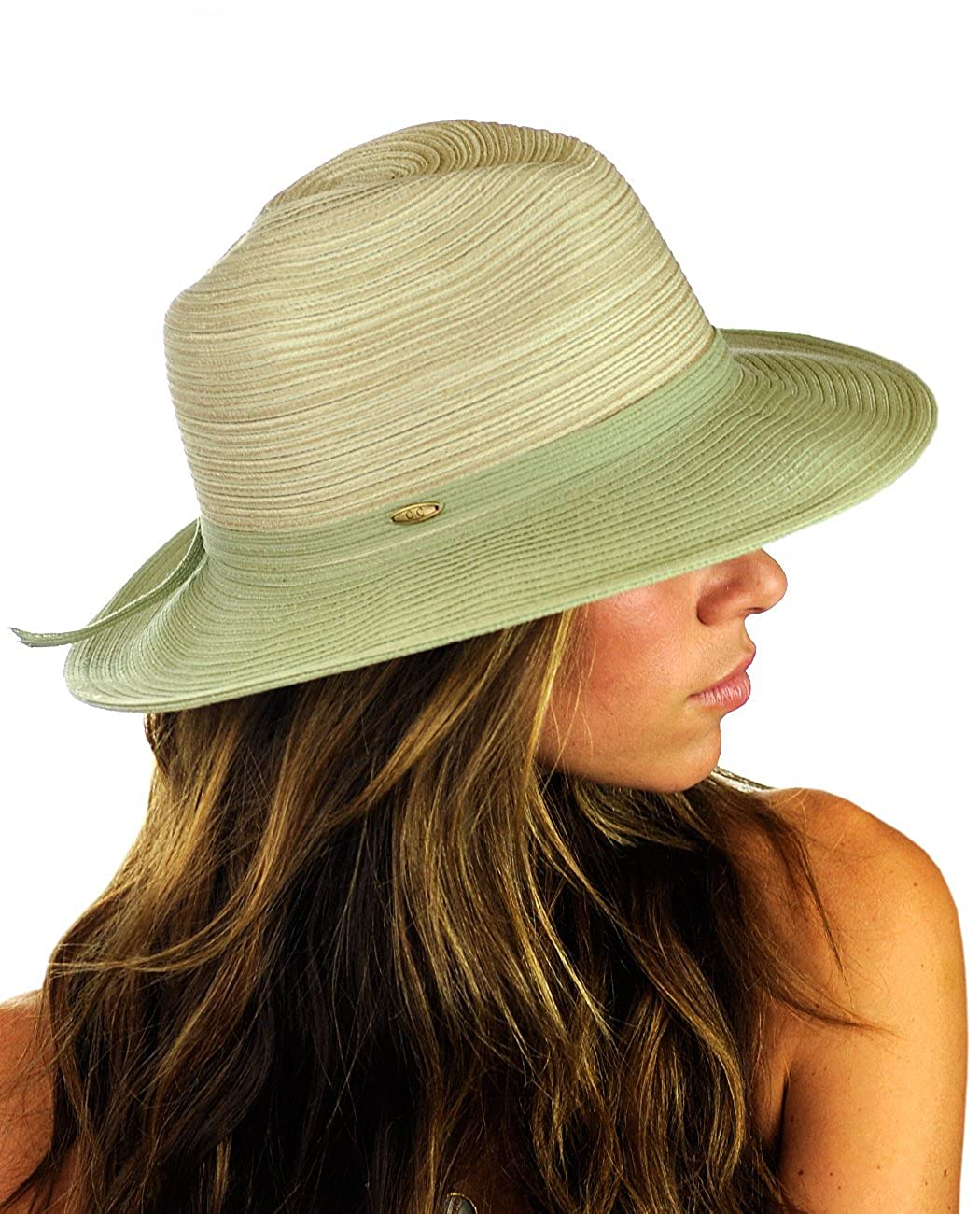 f41b4409f881a NYFASHION101 - Sombrero Panamá - para Mujer ST106-GR
