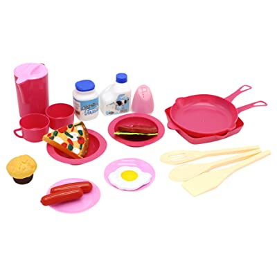 Little Treasures Pretend & Play Rise and Shine Family Breakfast Playset for Kids: Toys & Games